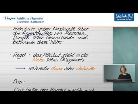 Attribute // Satzglieder // Deutsch // Schülerhilfe Lernvideo