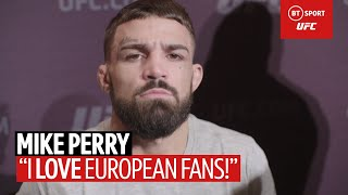 Mike Perry Shows Off English Accent In Brilliant Media Day Interview! | UFC 245