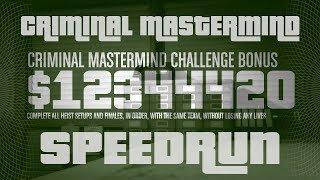 GTA Online Heists Criminal Mastermind Speedrun