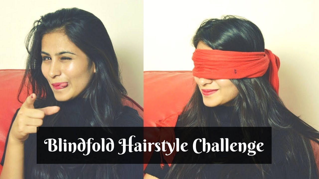 I Took Blindfold Hairstyle Challenge | Hair Care Tips and more | Humour and Glamour