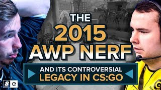 The 2015 AWP nerf and its controversial legacy in CS:GO
