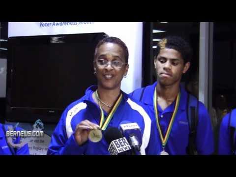 Dage Minors' Mother Carifta Track and Field Team Returns Bermuda April 26 2011