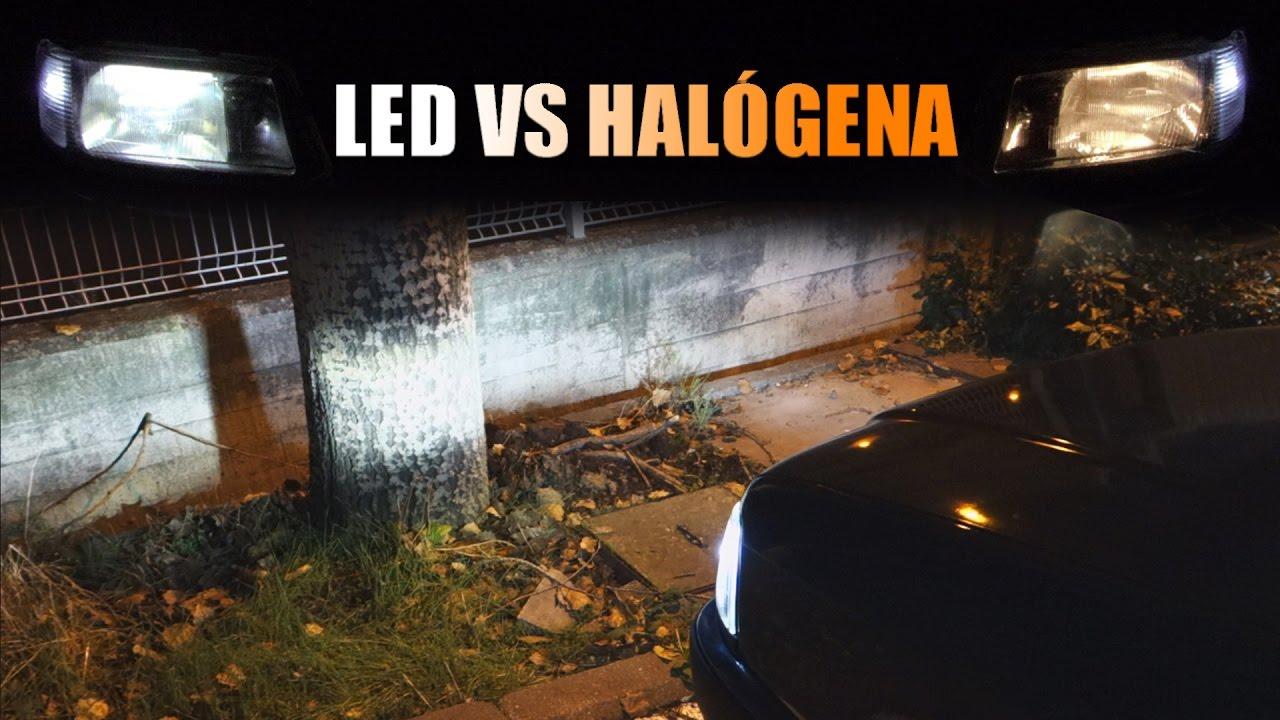 kit bombillas led para coche vale la pena el cambio led vs halogena youtube
