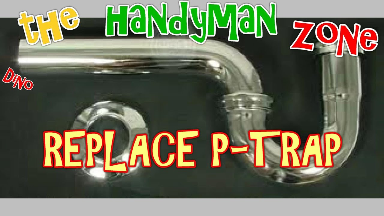 replace leaky bathroom sink drain pipe, p-trap kit - YouTube