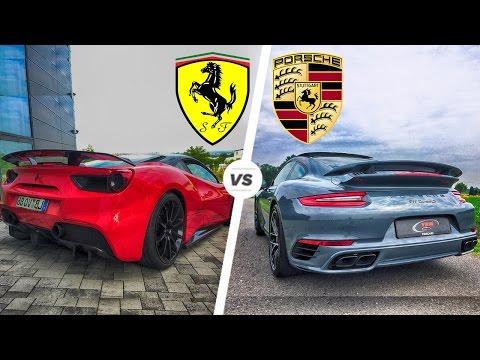 Porsche 911 Turbo S 2017 vs Ferrari 488 GTB Exhaust SOUND & Acceleration POV Drive