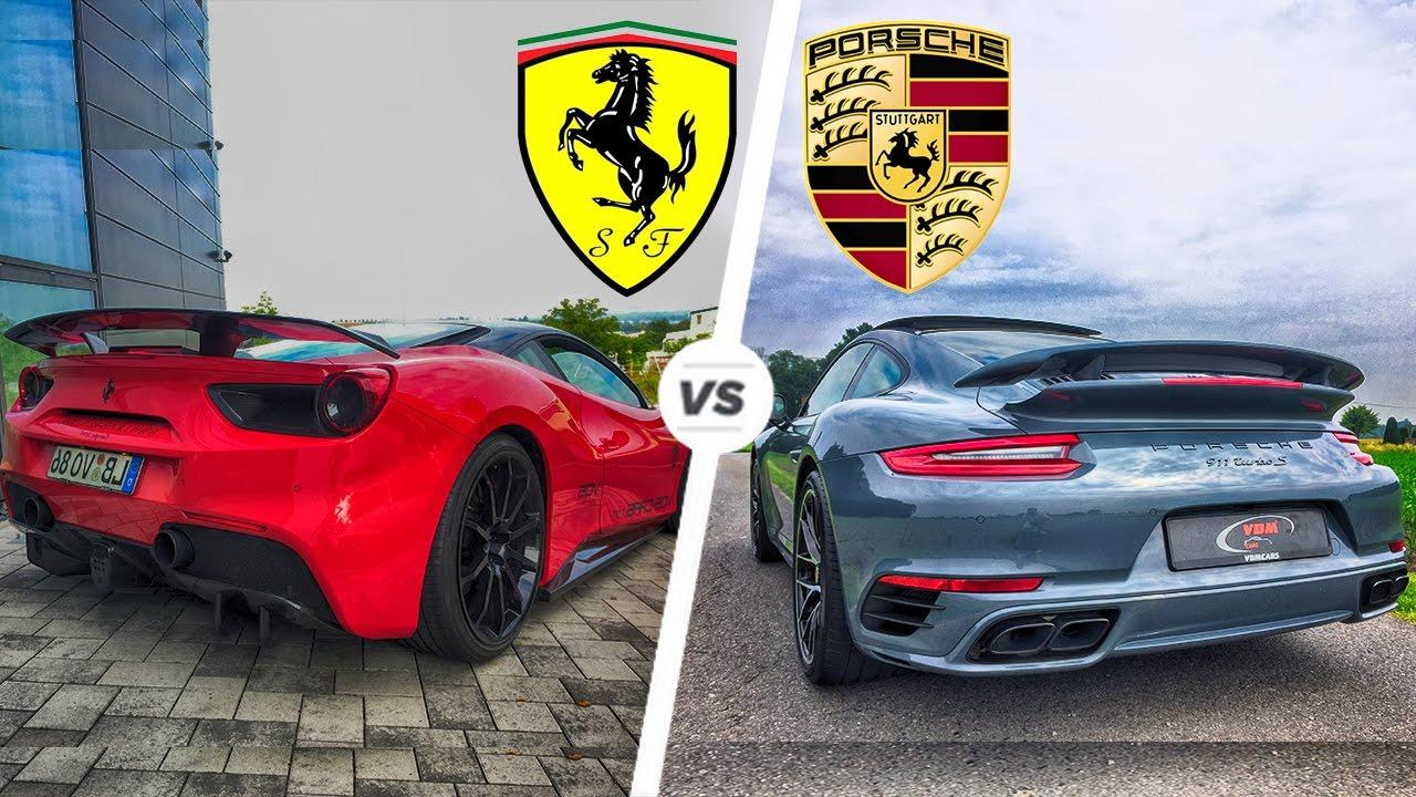 Porsche 911 Turbo S 2017 vs Ferrari 488 GTB Exhaust SOUND ...