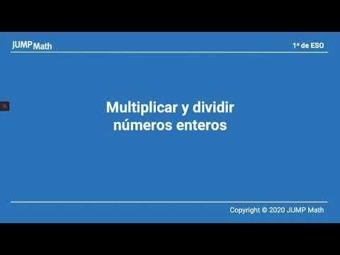 1. Unidad 7. Multiplicar y dividir números enteros