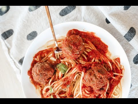 My Recipe for Spaghetti & (Gluten, Dairy, Grain-free) Meatballs