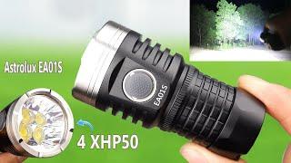 Đèn Pin này Sáng Đến Nỗi Ôtô cũng phải Chào Thua - Test Đèn Pin Siêu Sáng Astrolux EA01S