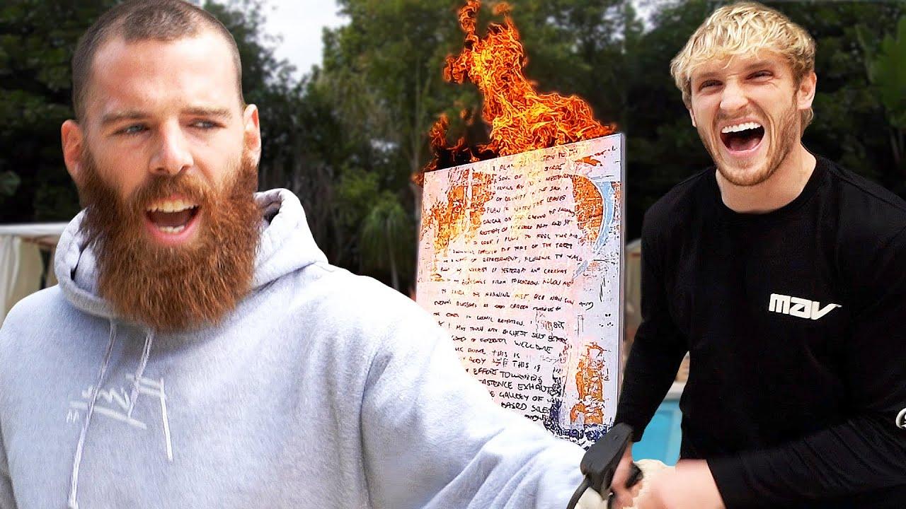 Logan Paul destroys his friends PRICELESS ART!