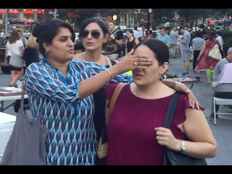 Pedestrians in NYC React to Earthlings