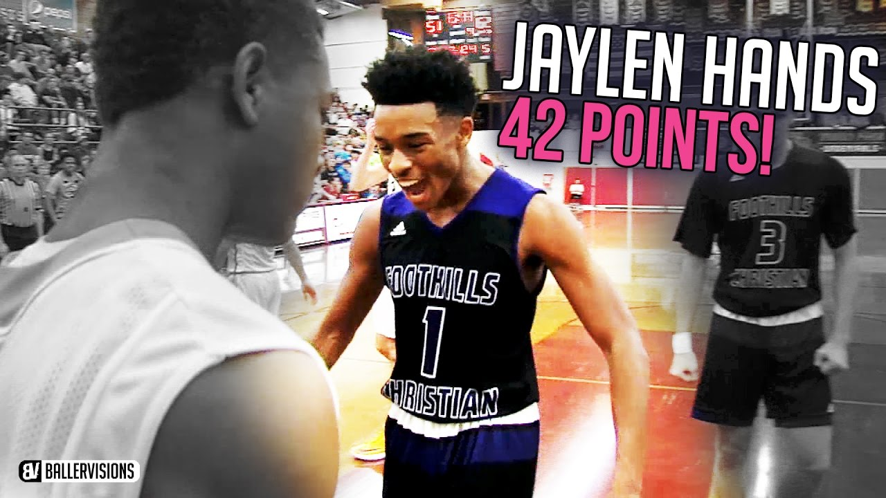 the latest 93475 e30da Jaylen Hands Drops 42 In Front Of HYPE Crowd!! FULL HIGHLIGHTS VS St. Edward