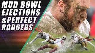 Mud Bowl, Aaron Rodgers Perfect Game & Derek Carr's Touchback