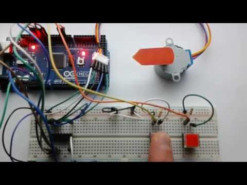 Project 17 - Stepper Motor Direction Control Using 2 Buttons with the Arduino