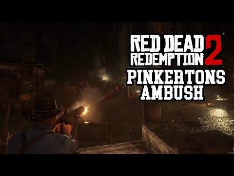 Red Dead Redemption 2 Van Der Linde Gang Vs Pinkertons (Pinkertons Ambush) (Fleeting Joy)