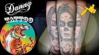 Catrina Antebraço - Danny Tattoo (Forearm Catrina) Timelapse