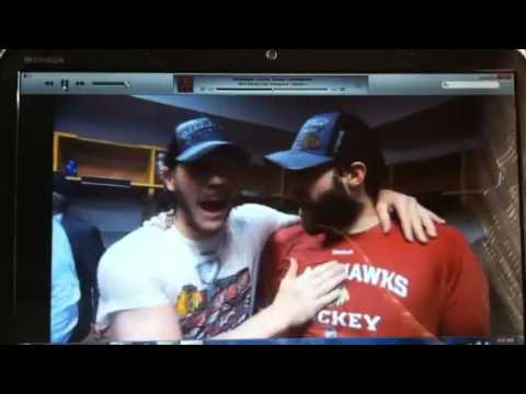 Blackhawks Locker Room Celebration