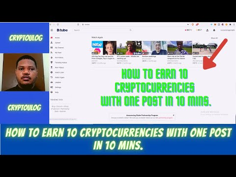 How To Earn 10 Cryptocurrencies With One Post In 10 Mins.