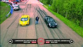Lamborghini Gallardo UGR vs Porsche 911 Switzer vs Chevrolet C10.