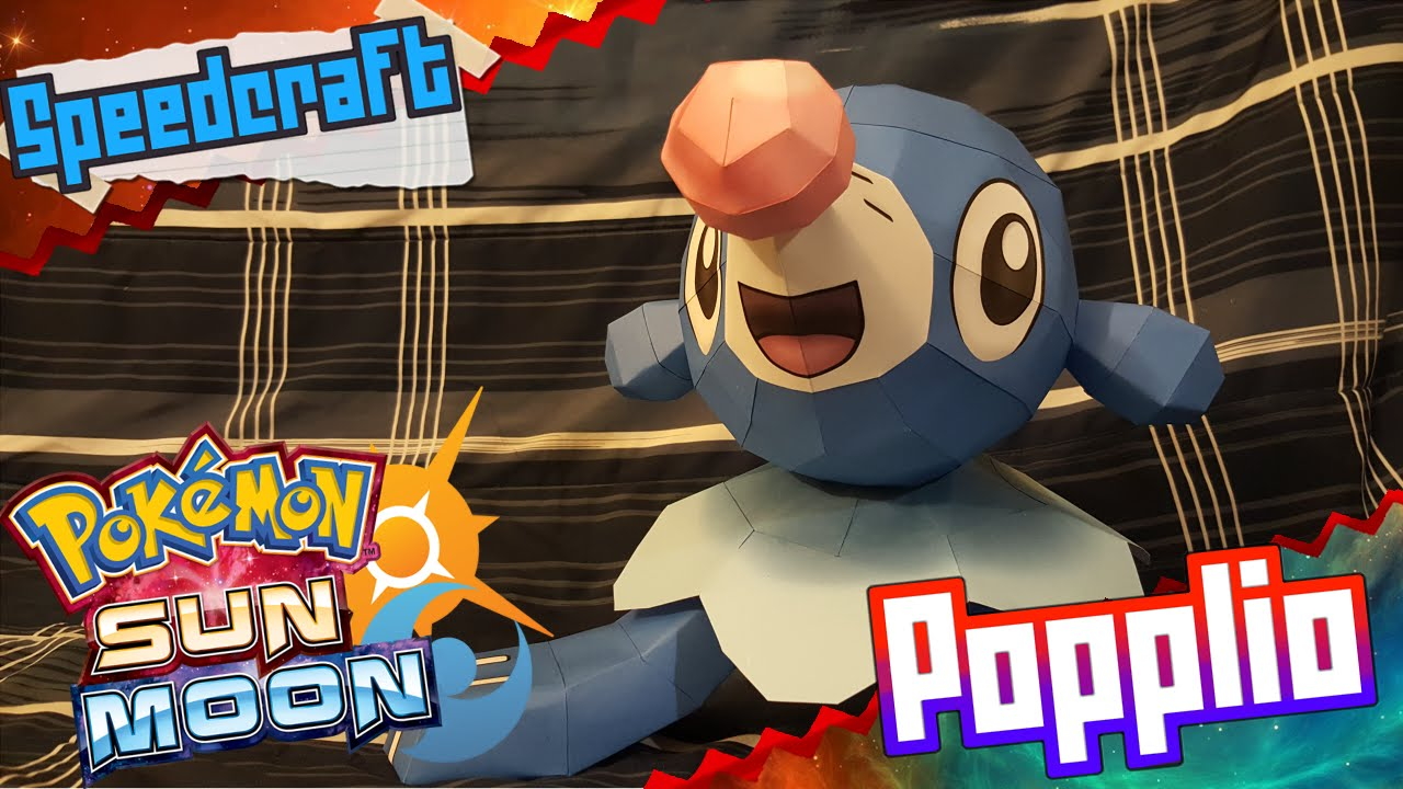 Papercraft Pokemon Sun & Moon Papercraft ~ Popplio ~