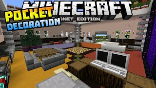 POCKET DECORATION MOD in MCPE!!! - Tv, Laptop, Fridge & MORE - Minecraft PE (Pocket Edition)