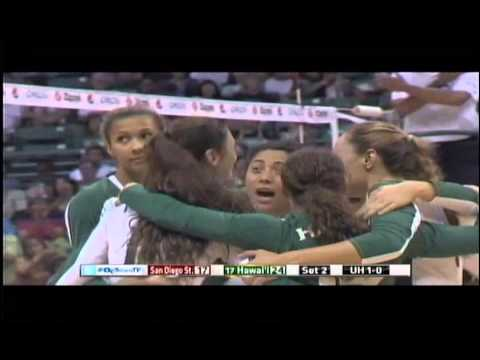 Rainbow Wahine Volleyball 2014 - #17 Hawaii Vs San Diego St