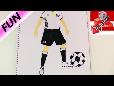 Piala Eropa Thomas Muller Menggambar Pemain Bola Youtube