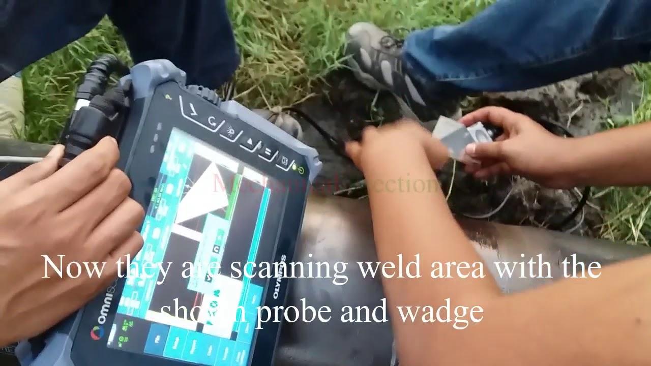 Ultrasonic Testing of welds || Ultrasonic NDT Testing procedure || Pipeline  welding Test