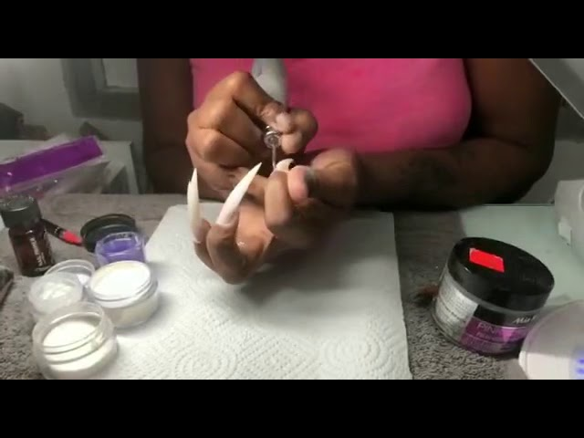 Acrylic nails tutorial |I do my OWN NAILS | watch and learn - Beauty ...