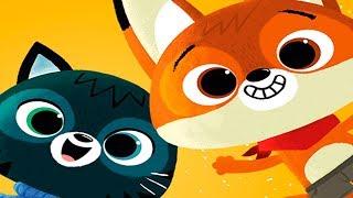 Мультик про животных | Котенок и Лисенок ждут гостей | Играем с малышами в игре  для детей