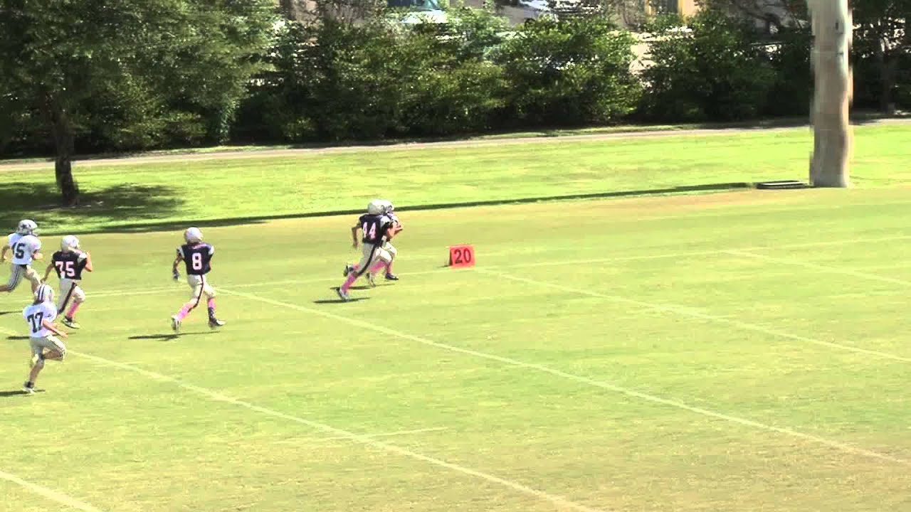 amazing 76 yard reverse field broken tackle touchdown run in