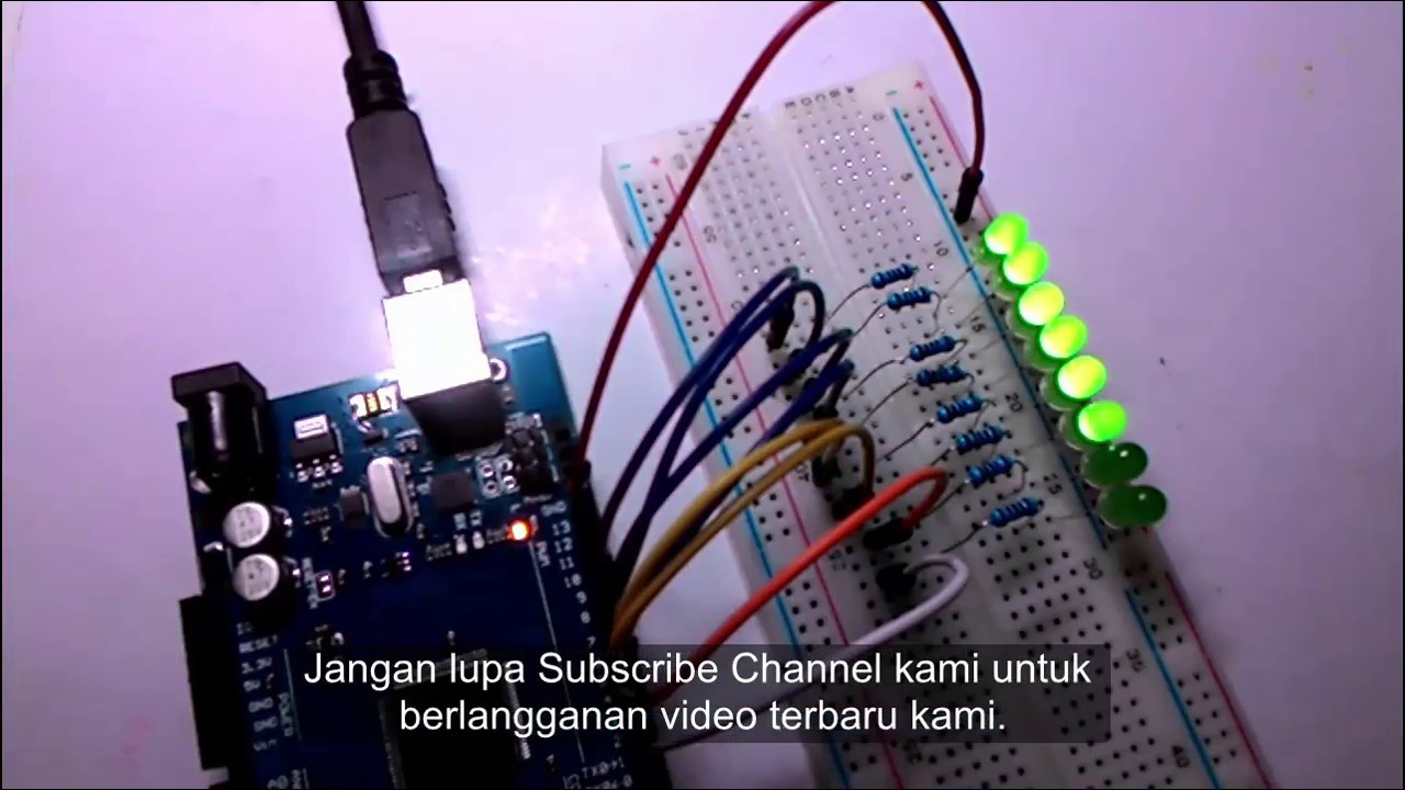 Arduino dasar lampu led mengalir youtube