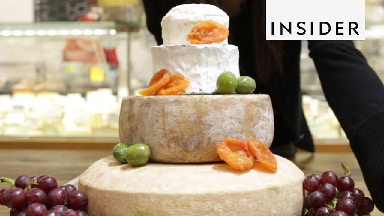 how do i make a cheese wedding cake cheese wheels make the cake 15372