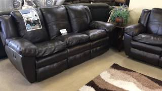 Catnapper 419 Italian Top Grain Leather Reclining Sofa Love seat Set Made in the U.S.A.