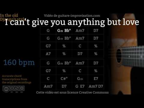 I can't give you anything but love (160 bpm) - Gypsy jazz Backing track / Jazz manouche