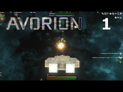 Avorion - Mining Asteroids, Building A Ship, And Fighting A Space Battle - Avorion Gameplay Part 1
