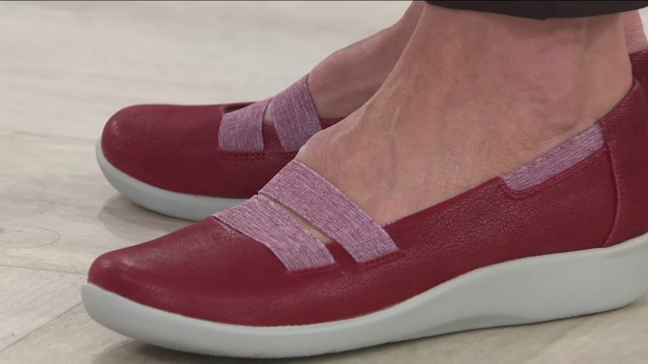 a226d101297 Clarks Cloud Steppers Slip-on Sneakers - Sillian Rest on QVC - YouTube