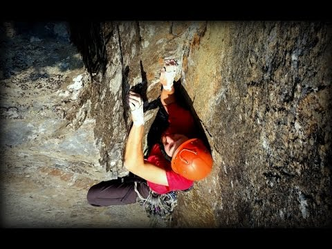 Climbing at Orient Bay, Ontario - Titon Crack 5 9++by: Aric Fishman