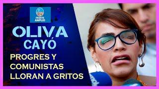 Comunistas lloran a moco tendido la derrota de Karina Oliva
