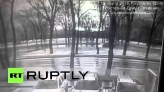 لحظة تحطم طائرة ركاب أثناء هبوطها في مطار رستوف على الدون جنوب روسيا