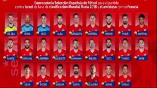 Convocatoria Seleccion Española 17/03/2017 y Once ideal por Victor Rivilla