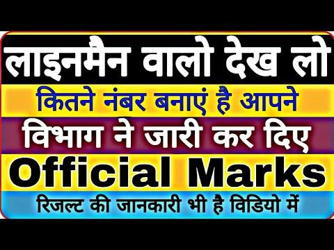Rajasthan technical Helper Original marks | official Marks