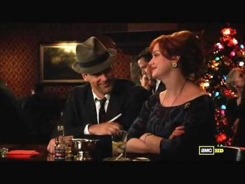 Don Draper and Joan Harris' chat by the bar