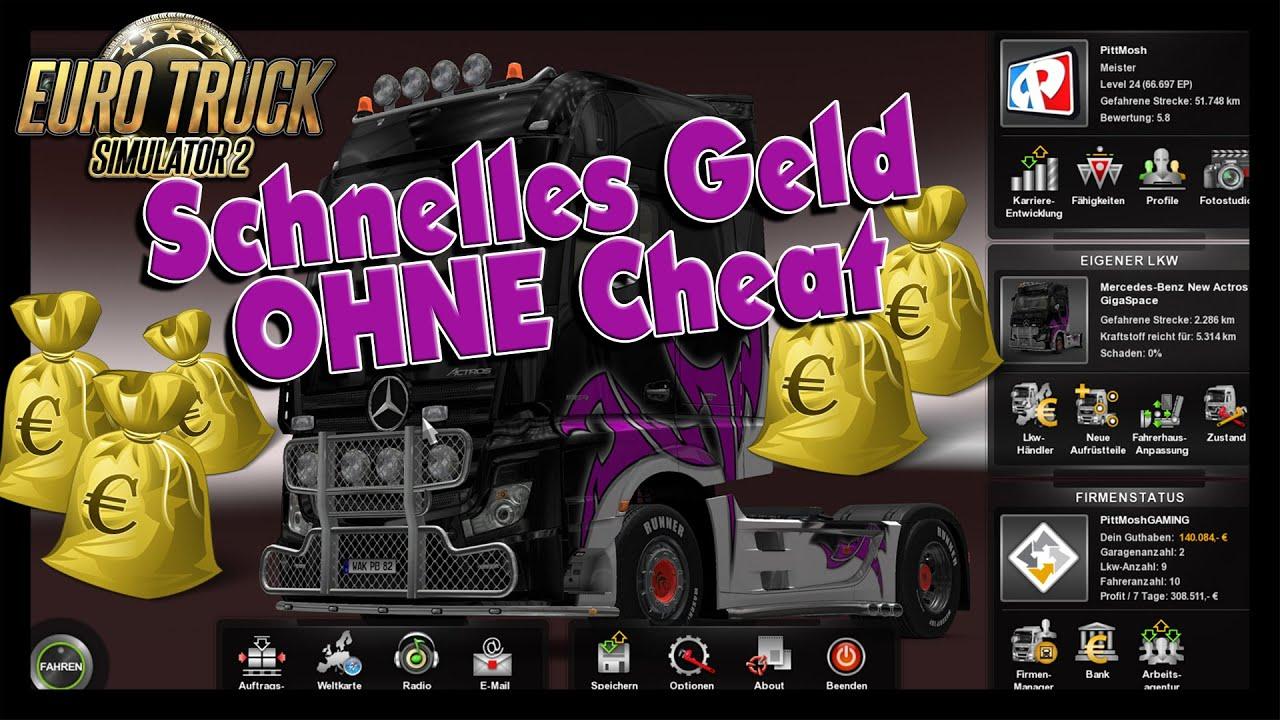 Citaten Geld Cheat : Euro truck simulator schnelles geld ohne cheat youtube