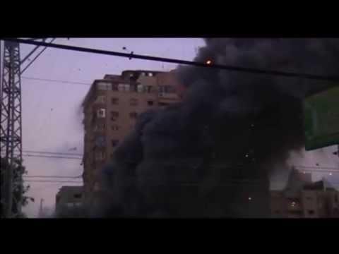 Israeli air strike destroys residential tower block in Gaza City   Reuters mp4