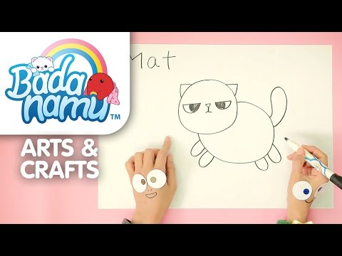 Badanamu Arts & Crafts EP9: Let's Draw Fat Cat Mat l Nursery Rhymes & Kids Songs