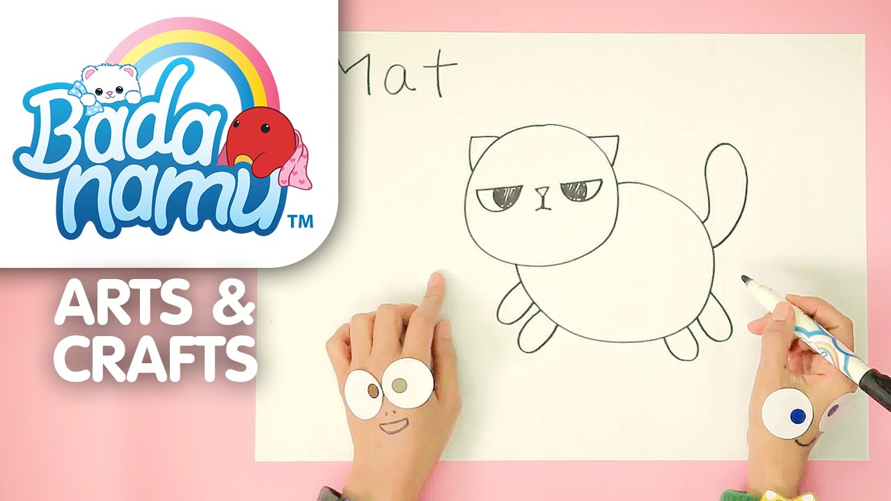 Uncategorized How To Draw A Fat Cat badanamu arts crafts ep9 lets draw fat cat mat youtube