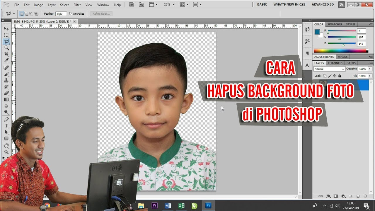 Cara Hapus Background Foto di Photoshop #BangunTutorial ...
