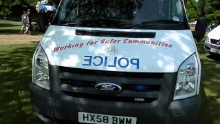 Hants Police Families Day - Ford Transit Police Van Lights and Tour