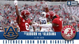 #22 Auburn Tigers vs. #1 Alabama Crimson Tide: Extended Highlights | CBS Sports HQ
